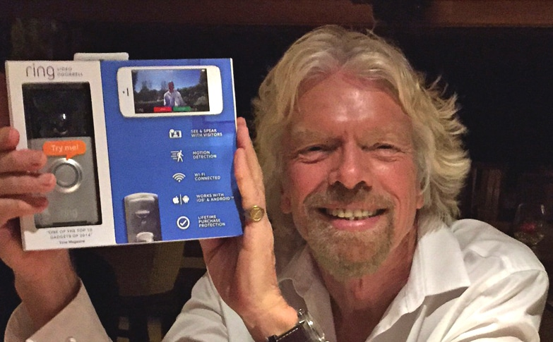 Richard Branson: An investor in Ring