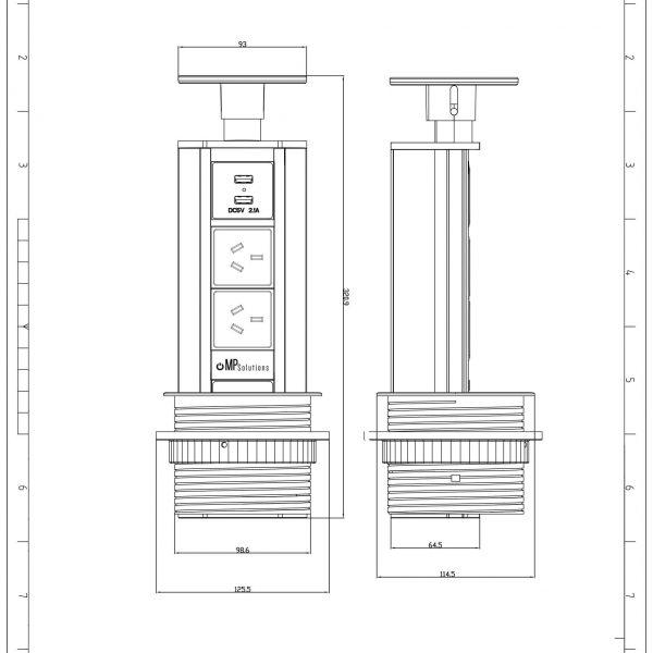 V2 Range Template Drawing